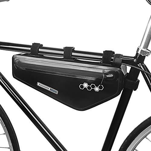 Festnight Bolsa Triangular para Bicicleta Bolsa de Tubo Frontal para Cuadro de Bicicleta Bolsa de Almacenamiento de Herramientas para Bicicleta de Ciclismo Impermeable Bolsa de alforja