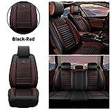 Muchkey Housse de sièges 5 Places pour Mercedes Benz A/B/C/E/G/S/V-Class Imperméable Protection de siège Style A Noir Rouge
