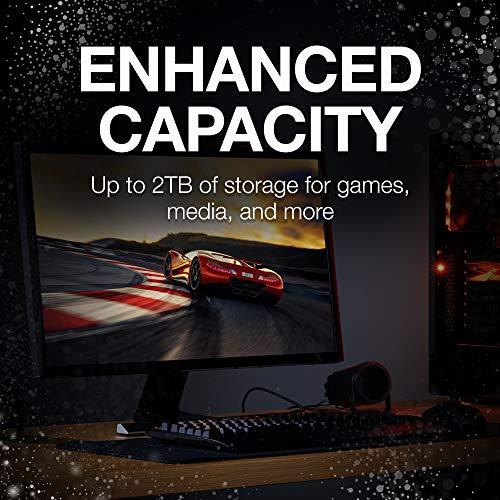 Seagate ST2000LX001 - 2 TB FireCuda Internal SSHD Hard Drive for PC/PS4, color Plateado