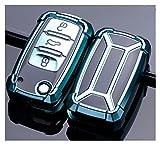ZhengFeng Shop TPU Coche de clavija de la caja de la llave Ajuste para VW Volkwagen Polo Bora Tiguan Passat Golf 6 Lavida Scirocco Fabia Protection Shell Auto Accesorios ( Color Name : A green )
