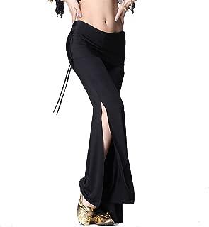 ZLTdream Women's Belly Dance Slit Pants Milk Silk