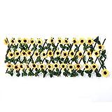TCross - Recinzione telescopica da giardino, foglie artificiali di fiori, recinzione in legno, griglia estesa, decorazione per la casa (colore: Stile 1)