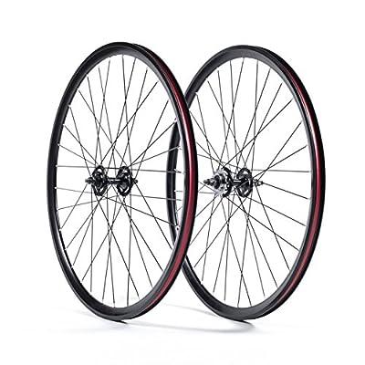 State Bicycle Fixed Gear Deep Profile Wheel Set, 700C, Black