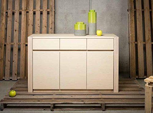 Legno&Design Como 'Buffet Commode en Bois Massif à 3 Portes et 2 tiroirs