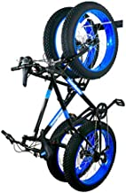 StoreYourBoard BLAT Bike Fat Tire Wall Rack, Holds 2 Bikes, Home and Garage Storage Hooks, Heavy-Duty Solid Metal Max 100 lbs