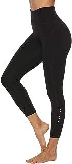 Edeey Women High Waist Yoga Leggings 2 POCKETS Workout Pants with Safe Night Reflector Tummy Control