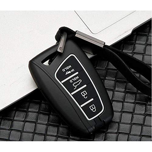 Carcasa Llave Funda Para Llavero Funda Para Llave Funda Para Llave De Fibra De Carbono Para Coche, Para Hyundai Santafe Ix45 Accesorios Para Funda De Llave Inteligente 3/4 Buton Fob Smart Key Protec