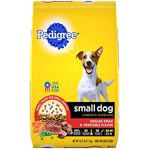 PEDIGREE Small Dog Adult Complete Nutrition Grilled Steak and Vegetable Flavor Dry Dog Food