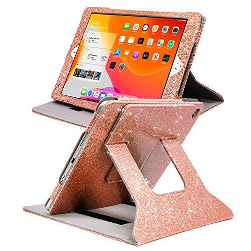 FAN SONG iPad Air 2 Case Glitter, iPad Cases 9.7 inch 6th Gen 2018 /5th Gen2017 Bling Sparkle Leather Smart Cover [Flip Stand] [Auto Sleep/Wake] Universal Case for iPad Pro 9.7/Air 1