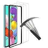 ANEWSIR 3 Piezas Protector de Pantalla para Samsung Galaxy A51/A51 5G/Galaxy S20 FE,Cristal Templado de Resistente a Arañazos 9H Dureza Cristal Vidrio Templado Protector (6.5').