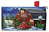 Briarwood Lane Christmas Tree Farm Large Magnetic Mailbox Cover Red Pickup Oversized