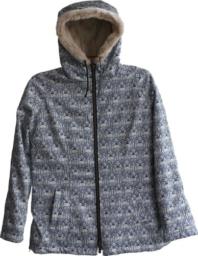 Hemp Hoodlamb Women's Classic Jeremy Fish Art Jacket M Gray