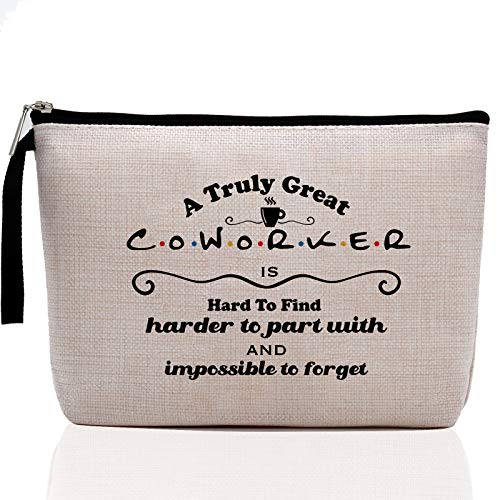 Appreciation Gifts for Coworkers Women- Going Away Gifts for Coworker ,Coworker Leaving Gifts - Farewell, Holiday, Office Gifts for Coworker-A Truly Great Coworker is Hard to Find-Makeup Bag