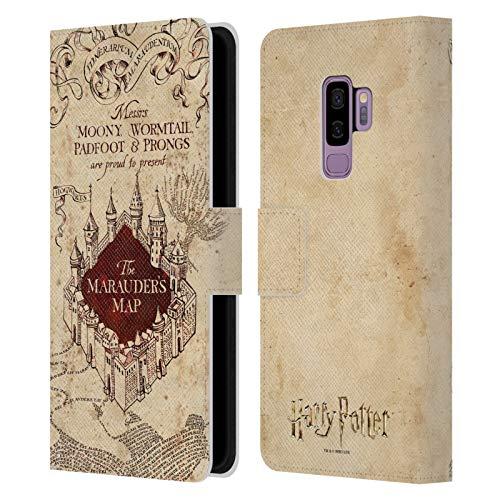 Head Case Designs Offizielle Harry Potter The Marauder's Map Prisoner of Azkaban II Leder Brieftaschen Handyhülle Hülle Huelle kompatibel mit Samsung Galaxy S9+ / S9 Plus