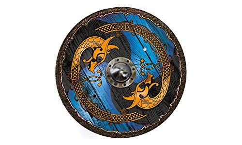 Wikingerschild Drache blau-schwarz