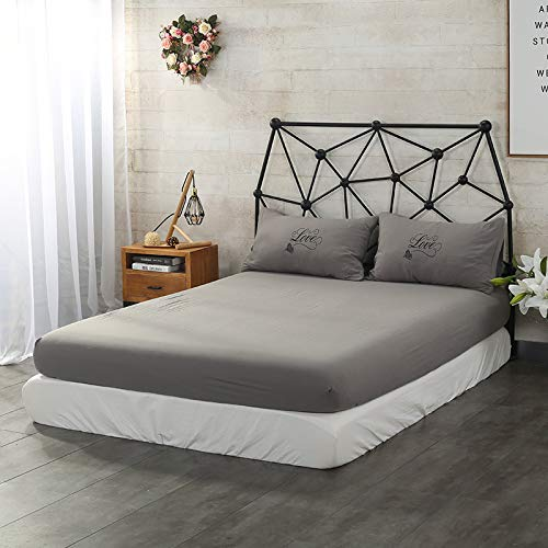 Microfibre Fitted Sheet | Sheet With Strong Elastic Hem To Fit Snugly Around Your Mattress | Hypoallergenic, Breathable Bed Sheets Are Oh-so-soft Single pillowcase Dark grey