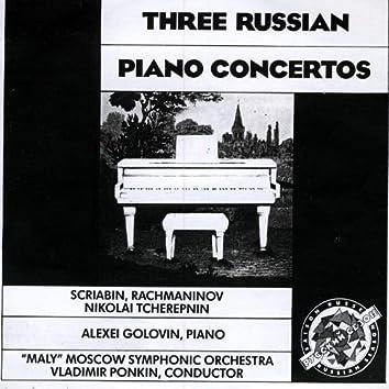 Three Russian Piano Concertos. Scriabin, Rachmaninov, Tcherepnin