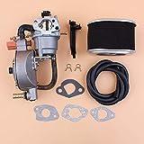 HaoYueDa Kit de línea de Combustible de Filtro de Aire de carburador de Combustible Dual para Honda GX160 GX200 168F 170F GX 160200 Motor 2-3KW generador de Gas cortacésped