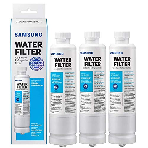 Sаmsung Electronics DA29-00020B Refrigerator Water Filter Replacement Compatible with Samsung DA29-00020A, HAF-CIN/EXP, 46-9101. Chlorine, odor, particles Reducing Refrigerator Water Filter, 3-Pack
