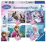 Ravensburger Puzzle Frozen, 12,16,20 e 24 Pezzi, 4 Puzzle in a Box , Per Bambini a Partire dai 3 Anni