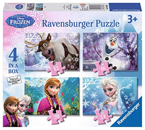 Ravensburger 07360 Frozen 4 Puzzle 12/16/20/24 Teile a box-12/16/20/24 [Exklusiv bei Amazon]