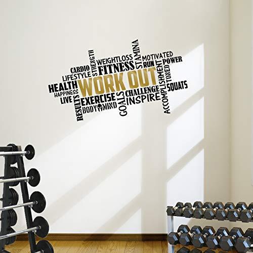 Designdivil muro Art . sarà Facile. Sticker Decal Fitness Piazza Word Muro Art.