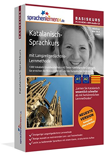 Preisvergleich Produktbild Sprachenlernen24.de Katalanisch-Basis-Sprachkurs: PC CD-ROM für Windows / Linux / Mac OS X + MP3-Audio-CD für MP3-Player. Katalanisch lernen für Anfänger.