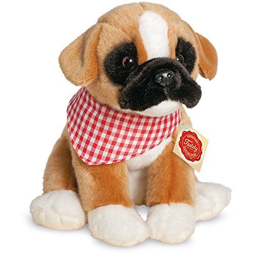 Teddy Hermann 91932 Hund Boxer Welpe sitzend 24 cm, Kuscheltier, Plüschtier