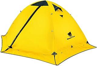 GEERTOP テント 2人用 ソロテント 軽量 4シーズン 二重層 耐水圧5000MM 防水 登山テント スカート付き 防寒 キャンプ バイク アウトドア ツーリング 冬用 簡単設営