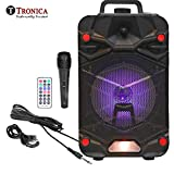 Tronica VIBRA 20W Rechargeable Outdoor Bluetooth Party Speaker with USB/FM/SD Card/Karaoke with Wired