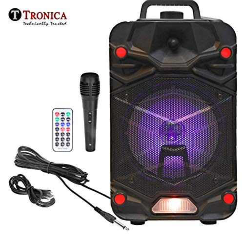 Tronica VIBRA 20W Rechargeable Outdoor Bluetooth Party Speaker with USB/FM/SD Card/Karaoke with...