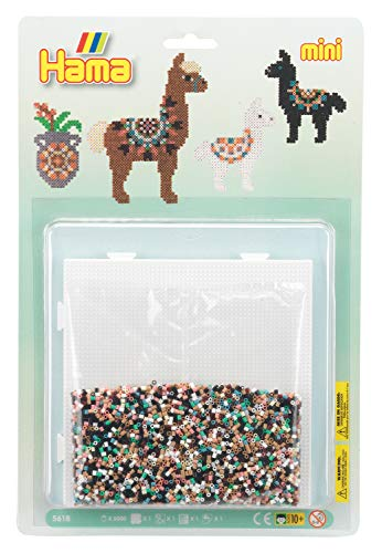 Hama 5618 Alpaca Pack Große Blister-Packung Alpaka, Bügelperlen Mini, ca. 5000 Stück inklusive Stiftplatte und Zubehör, bunt, Einheitsgröße