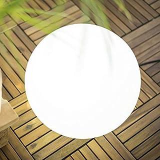 Delamaison JLE7051030 Boule Lumineuse, Plastique, Blanc