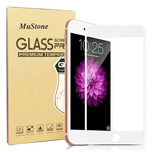 [2 confezione] pellicola protettiva per schermo iPhone 6, iPhone 6s, pellicola Mustone 3D copertura completa con pellicola proteggi schermo in vetro temperato per Apple iPhone 6/6S