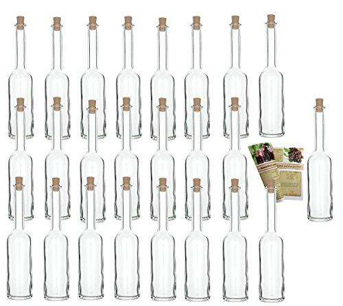 """24 leere Glasflaschen \""""Opera\"""" 100 ml incl. Korken zum selbst Abfüllen Likörflasche Schnapsflasche"""