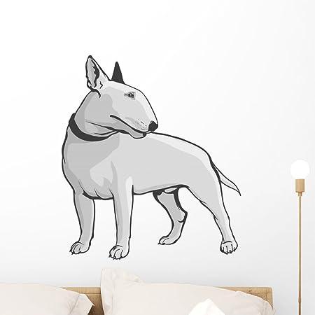 Wall Tattoo Bull Terrier wall stickerTattoos For Wall75cm