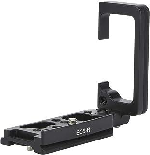Soporte en Forma de L Placa de liberación rápida Cámara de Video Vertical de Aluminio Montaje en L con Orificios para Tornillos de 1/4 de Pulgada para la cámara Canon EOS-R sin Espejo