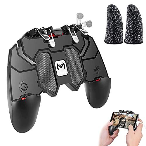 Tang yuan gamepad móvil ,controlador de juego portátil,gamepad de 6 dedos gamepad de disparo mejorado,joystick de juego móvil para Android e iOS,teléfono móvil de 4.7-6.5 pulgadas