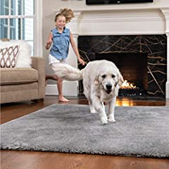 THE SOFTEST RUG YOU'LL EVER OWN!: The Gorilla Grip Area Rug is incredibly soft and features a top layer of thick, shaggy material that is ultra-plush. Its cozy faux chinchilla fabric adds warmth and softness to any room of your home. This area rug wi...