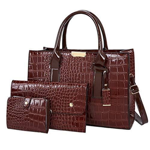 damen groß bag schultertasche beiläufig handtasche mode einkaufstasche beige vintage handtasche pu leder shopper schultertasche umhängetasche ledertasche (34cm(L) x13cm(W) x25cm(H), C Kaffee)
