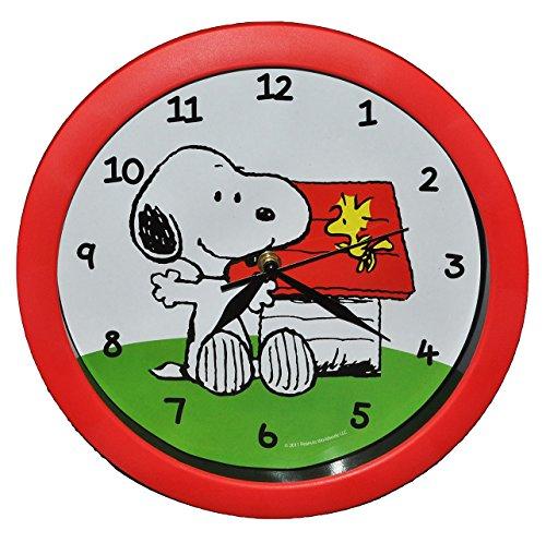 alles-meine.de GmbH Wanduhr Snoopy Peanuts - 29 cm groß Uhr - für Kinderzimmer Kinderuhr - Analog Mädchen Jungen Hunde Charlie Brown Woodstock
