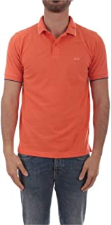 SUN 68 Luxury Fashion Mens A3010603 Orange Polo Shirt |