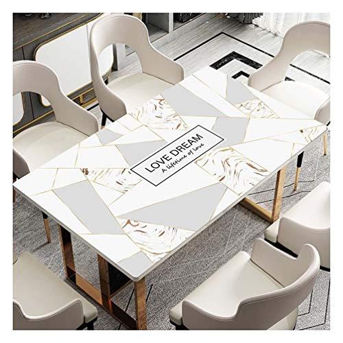 KANGSHENG Rechteckig Tischschutz-Folie PVC Plastik-Tischdeck Rechteckige Schutztuch Pad Wasserdicht PVC-Tabellen-Abdeckung Schutz Transparent Schreibtisch-Matte for Kaffeetisch, Büro-Schreibtisch