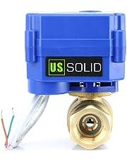 """U.S. Solid 1"""" gemotoriseerde kogelkraan, messing, elektrische kogelkraan, normaal open, DN25, 220V AC (85V-265V AC), 2 draden, automatische terugloopinrichting."""
