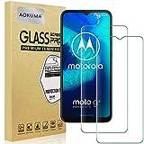 AOKUMA Cristal Templado Motorola Moto G8 Power Lite/G9 Play, [2 Unidades] Protector Pantalla para Motorola Moto G8 Power Lite/G9 Play Robusto Antiarañazos Antihuellas con Borde Redondeado Dureza 9H