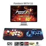 MEANSMORE Arcade Games Machines Pandora Box 11 Joystick y botones multijugador Arcade Console, 3003 Videojuegos retro clásicos Todo en uno, CPU avanzada, Compatible con HDMI y VGA