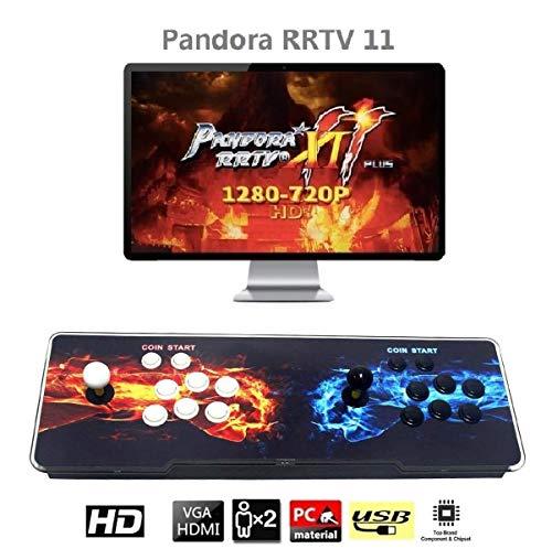 MEANSMORE Pandora Box 11 Multiplayer-Joystick und -Tasten Arcade-Konsole, Arcade-Spielautomaten, 3003 Retro Classic-Videospiele in einem, neuestes System mit erweiterter CPU, Unterstützung für PS3