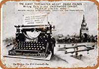 Underwood Typewriters 金属板ブリキ看板警告サイン注意サイン表示パネル情報サイン金属安全サイン