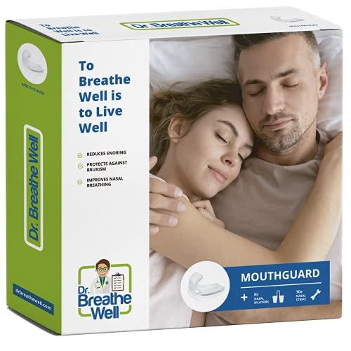 Dr. Breathe Well - Anti Snurk Beugel - Met gratis neusspreiders en neuspleisters - 30 Anti Snurk Pleisters - 8 Stevige en Zachte Anti Snurk Neusspreiders