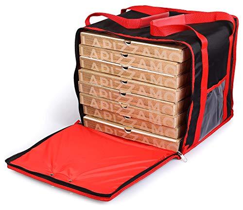 Borsa Termica Porta Pizze da Asporto 10 Cartoni Safemi Express 10 Nera e Rossa